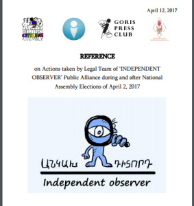 Reference-INDEPENDENT OBSERVER-Actions taken by Legal Team